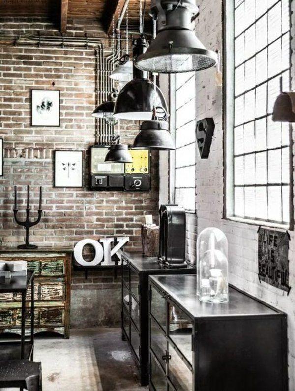 industriallampen möbel einrichtungsstile ideen