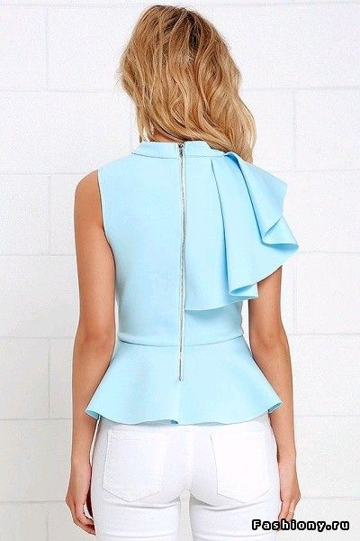 Блузка, топ и рубашка: много не бывает - 3 asymmetric peplum