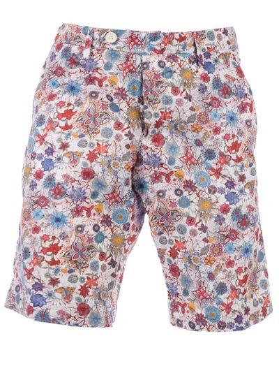 MYTHS Floral Print Deck Shorts