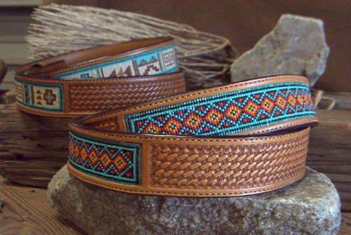 High Desert Beaded Belts | Custom Hand Tooled Beaded Belts by Desert Sage Bead Art www.desertsagebeadart.com