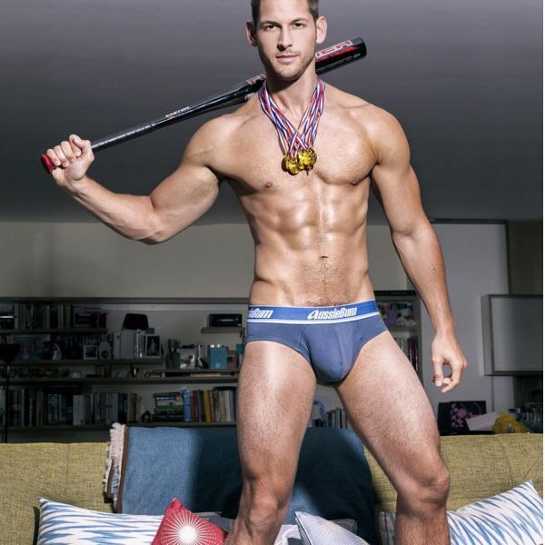 Max Emerson, Cut  Ripped, Comes To Bat In His Aussie Bum -9547