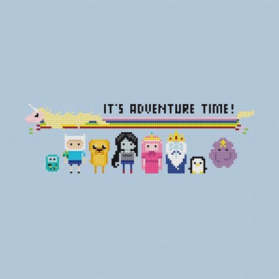Adventure Time Cross Stitch Pattern PDF Instant Do…