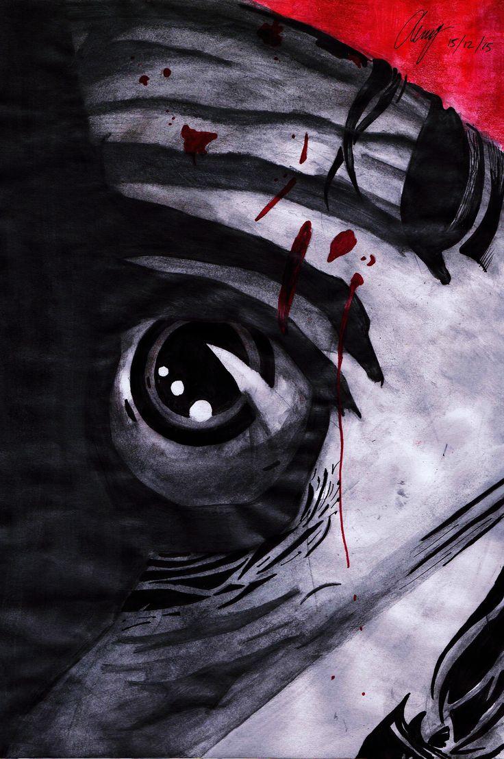 Beheading - Anthony Keutzer, recreated #Heroes #HeroesReborn #Isaac #FanArt #Ink #WaterColour