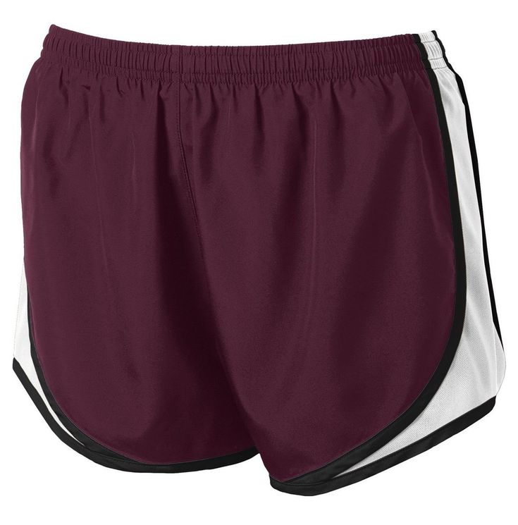 Clothe Co. Ladies Moisture Wicking Sport Running Shorts, Maroon/ White/ Black, M. Clothe Co. (TM) - Clothe Co. Ladies Moisture Wicking Sport Running Shorts. 2.8-ounce, 100% moisture-wicking polyester crepe jersey built-in brief. Elastic waistband with drawcord. 3.25-inch inseam. For training or relaxing, our feminine short keeps pace with high-performance moisture control. Tricot side panels provide breathability and add athletic style. 2.4-ounce, 100% polyester shell. 3.8-ounce, 100%...