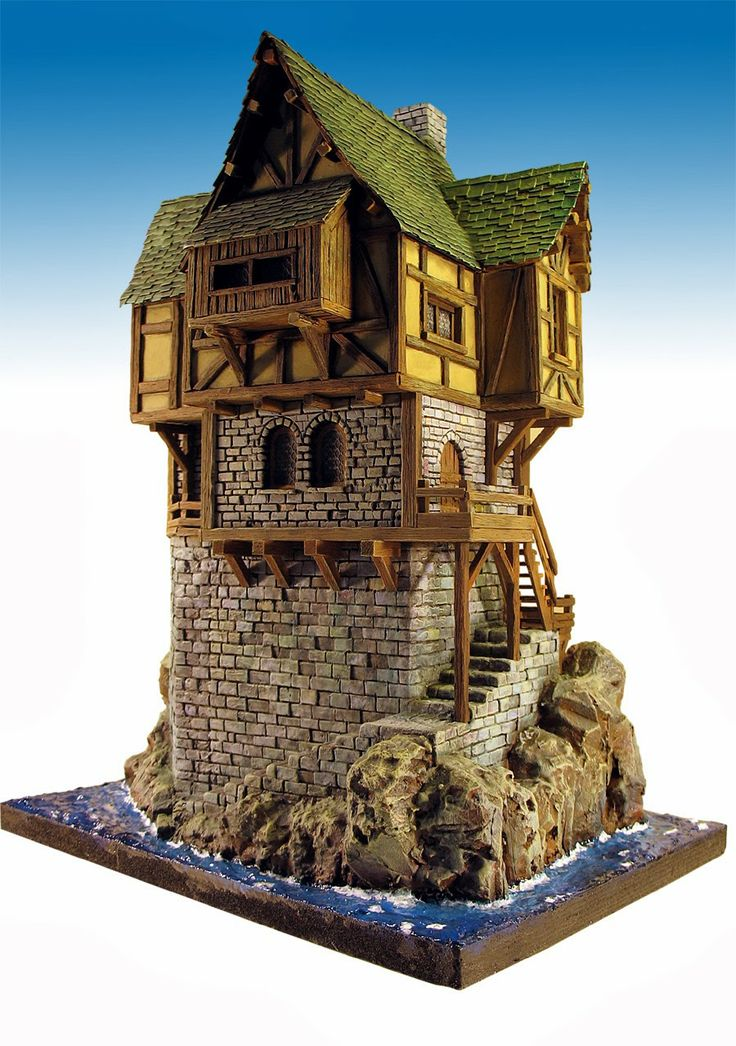 115 best fantasy style buildings images on pinterest for Fantasy house plans