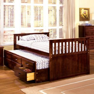 Furniture of America Benjamin Cherry Mission Style Captain Bed with Storage Trundle | Overstock™ Shopping - Great Deals on Furniture of America Kids' Beds