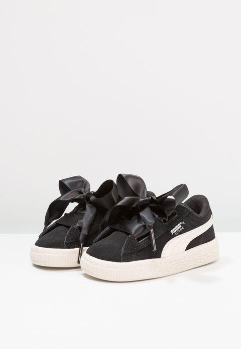 0ce5c9c1154 Schoenen Puma SUEDE HEART JEWEL V INF - Sneakers laag - black/whisper white  Zwart: € 59,95 Bij Zalando (op 24-2-18). Gratis bezorging & retour, snelle  ...