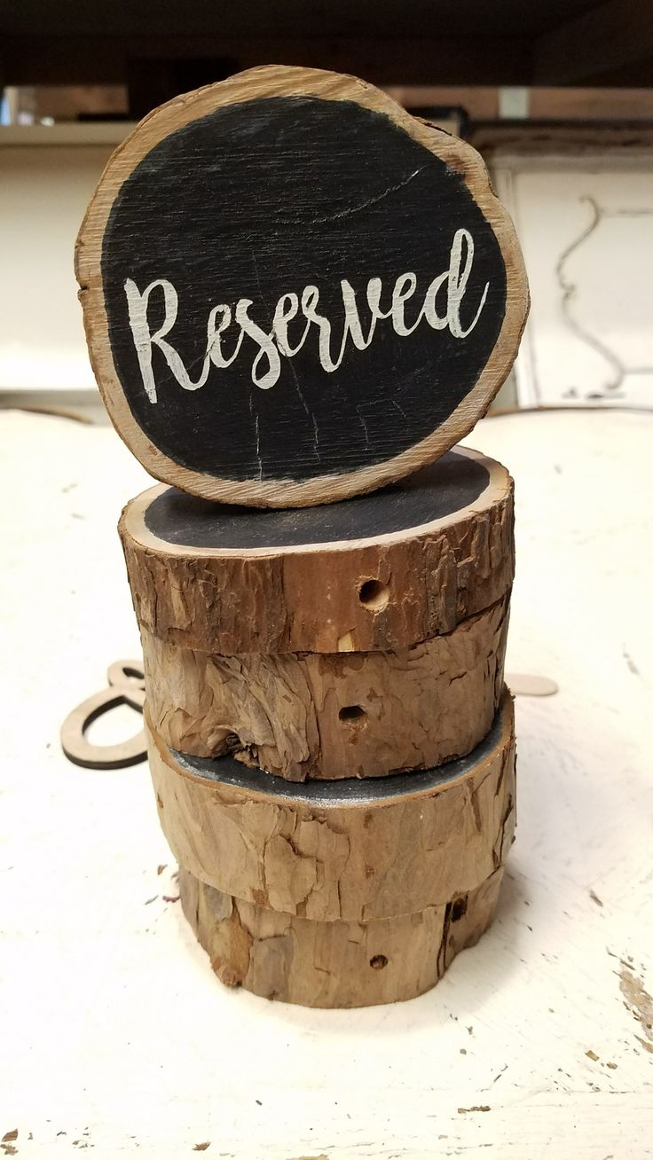 Reserved seating signs. For ceremony chairs or table centerpieces.  #dannerandsoli
