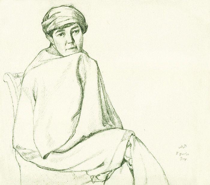 Мстислав Валерьянович Добужинский. Портрет жены