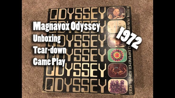 1972 Magnavox Odyssey UNBOXING Tear-down and Game Play (x-post r/retrogaming)