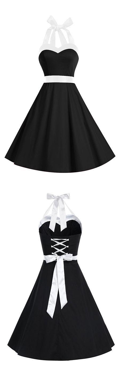 fashion vintage style dress,retro dress,50s dress,halter dress,rockabilly dress