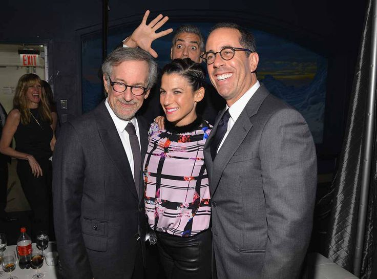 George Clooney from Celebrity Photobombs  Clooney tried to steal the spotlight from Steven Spielberg, Jessica Seinfeld and Jerry Seinfeld at the USC Shoah Foundation Institute 2013 Ambassadors for Humanity gala in New York City.