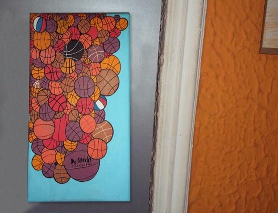 I love this game #basketball #nba #art #paintings www.rancio.es