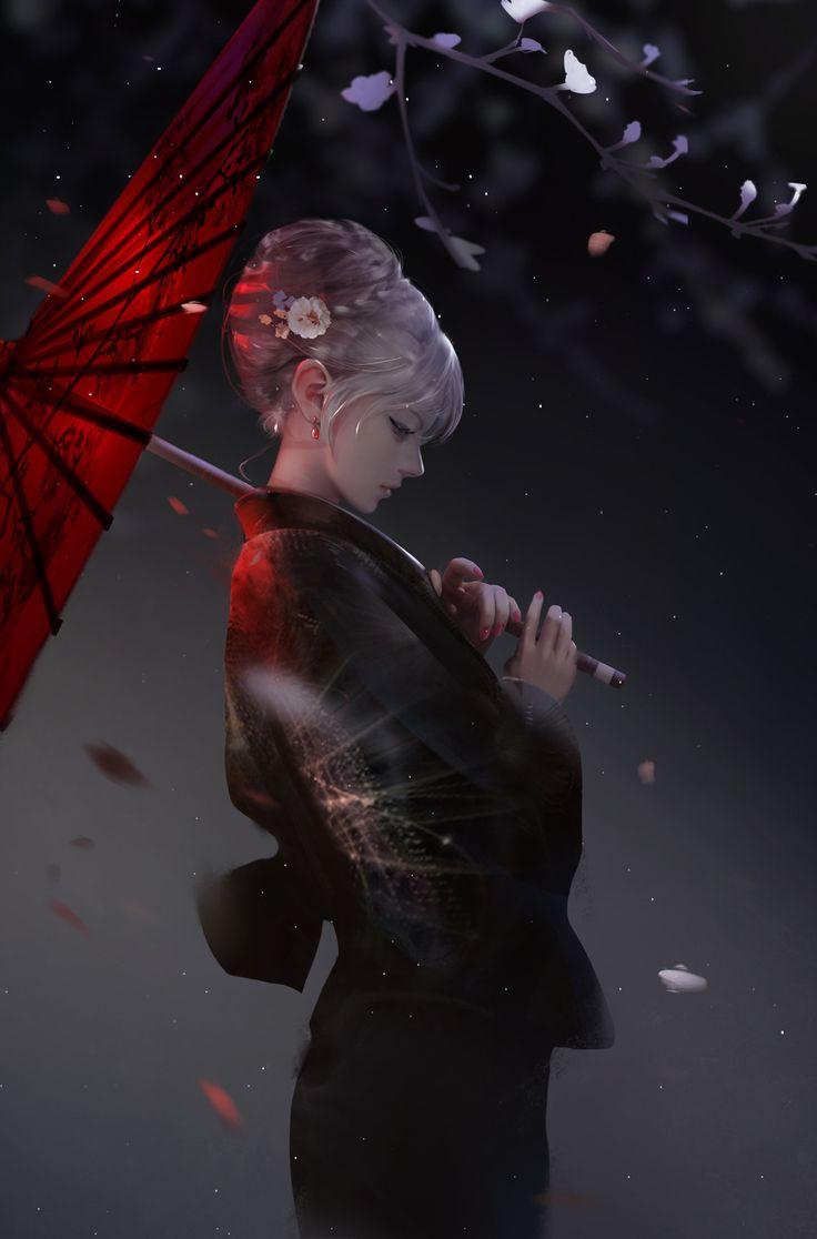 Anime art girl kimono ArtStation - Breeze, yue yue