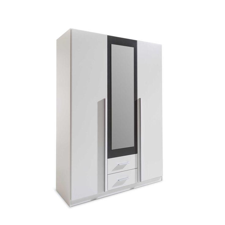Rauch Pack´s, Rauch Pack´s Kleiderschrank Cavalese 136 x 199 cm Weiß Lack & Folie