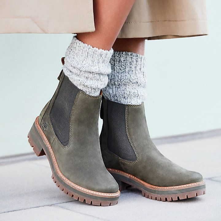 Wear Dark Green Suede Chelsea Boots