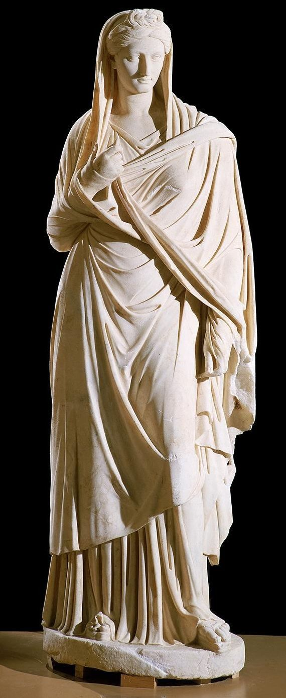 """Sabina,"" Roman, Imperial Period, ca. 136 A.D. (Height: 79 1/2 in.) Marble, probably from the Greek island of Paros"