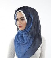 Home HIJABS PRINTED DYED HIJABS BLUE OMBRE HIJAB