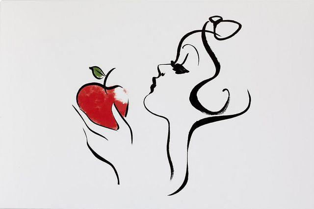 Snow White, would make a super cute tattoo...