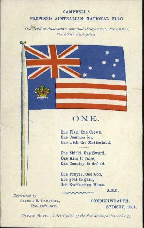Design for Federal Flag 1901 NAA: A6, 1901/1160