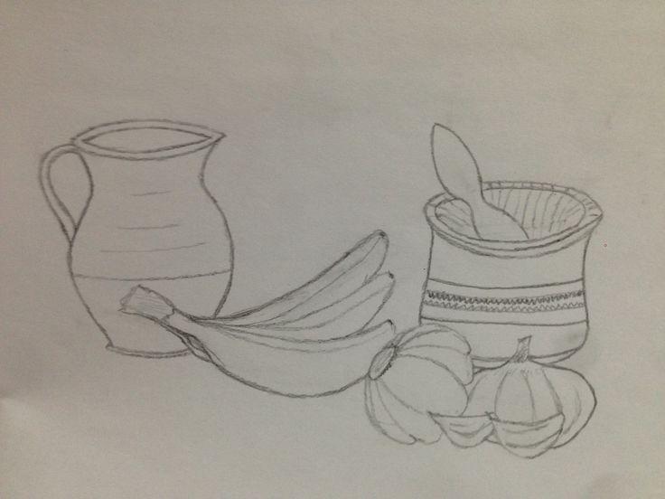 esta imagen se trata de uno de los tres bocetos previos que se debían realizar antes de escoger uno para su sombreado.