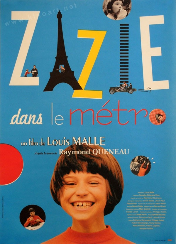 Zazie Dans le Métro (Louis Malle, 1960) 2009 re-release. I absolutely loved this film! According to some, she could be my spirit animal! #adventures, #pranks, #superfuntimes