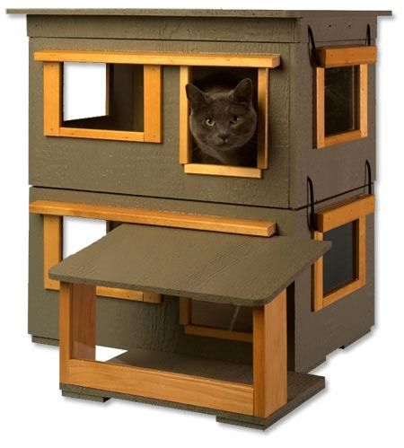 Outdoor cat house insulated outdoor cat house plans for Condo plans free
