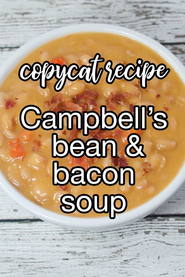 Campbell'S Bean And Bacon Soup Recipe