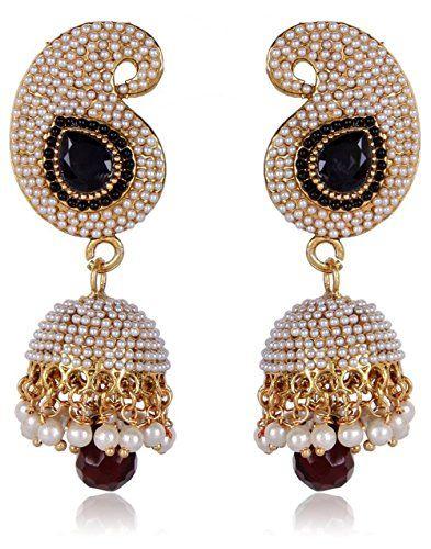 White Pearls Black Stone Bollywood Jhumki Earrings by Vvs... https://www.amazon.com/dp/B01L8KWVMK/ref=cm_sw_r_pi_dp_x_GTK0yb51H88D0