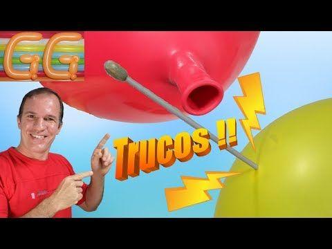 INCREÍBLES TRUCOS CON GLOBOS - trucos con globos - trucos revelados - YouTube