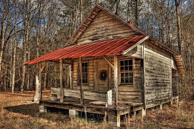 Rustic old cabin worldy things pinterest cabin and for Log cabin builders in alabama