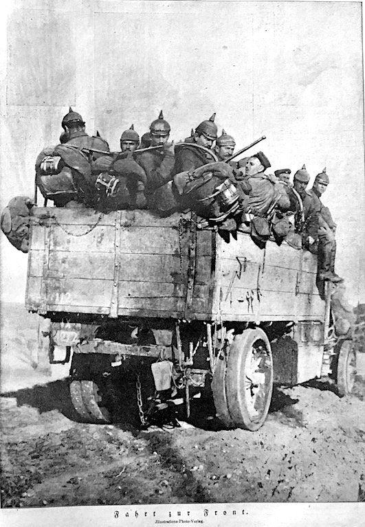 WWI, 25 Feb 1917; German soldiers to the frontline, from Berliner Illustrirte Zeitung. -Julian Nordhues (@Nordhues) | Twitter