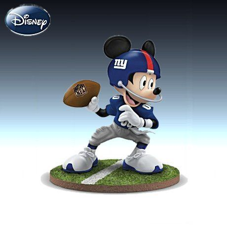 Sports Dolls and Figurines - Disney NFL New York Giants Quarterback Hero Mickey Mouse Figurine