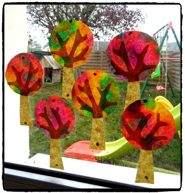 attrapes soleil arbres d'automne, activité enfant, automne