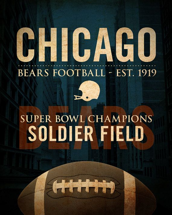Chicago Bears Wall Art 820 best chicago bears images on pinterest | chicago bears, bears