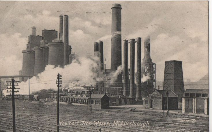 Newport Ironworks, Middlesbrough Postcard of Newport Ironworks, Middlesbrough, addressed to a place in Machester and postmarked 1916.