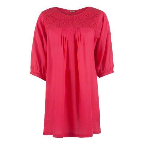Tunic with Lace Yoke | Shirts | Women Tops – LandmarkShops.com ...
