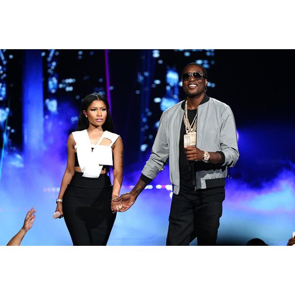 Meek Mill, Nicki Minaj, Chris Brown Perform 'All Eyes On You' at BET... ❤ liked on Polyvore