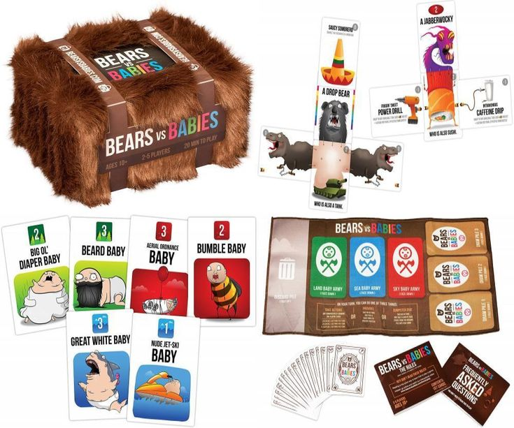 Bears vs Babies: A Card Game From the Creators of Exploding Kittens  #ExplodingKittensLLC