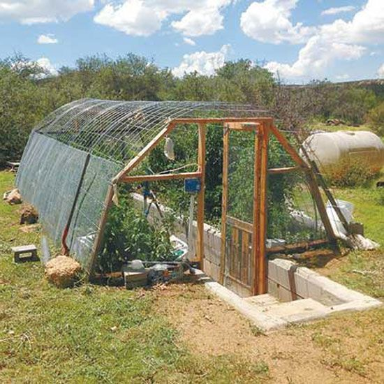 diy greenhouse underground farm and garden grit magazine - Earth Sheltered Greenhouse Plans