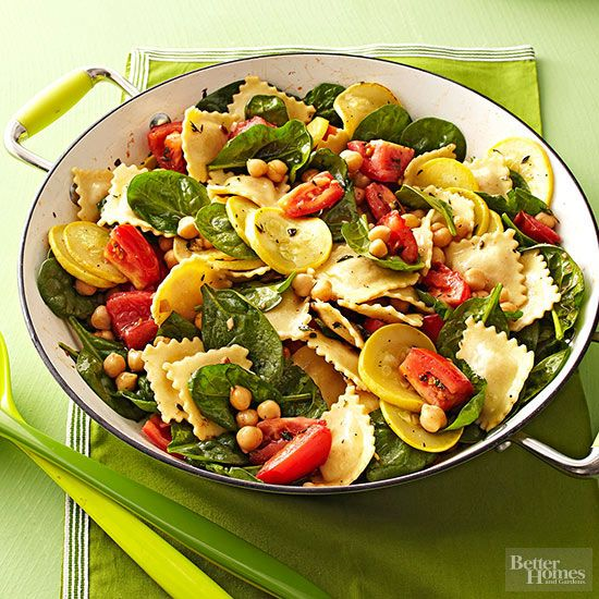 Ravioli with Summer Vegetables-- summer is right around the corner! can you smell the vegetables????
