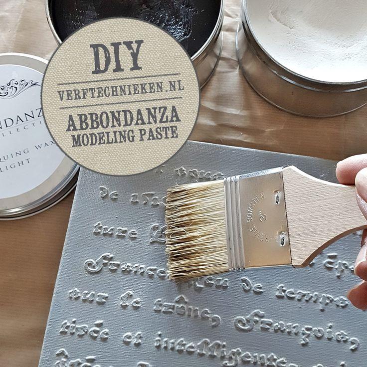 Abbondanza Modeling Paste is een pasta voor het aanbrengen van lagen, structuren en reliëf op accessoires of meubeltjes. Ook kun je met de modeling Paste een sjabloon aanbrengen in reliëf.