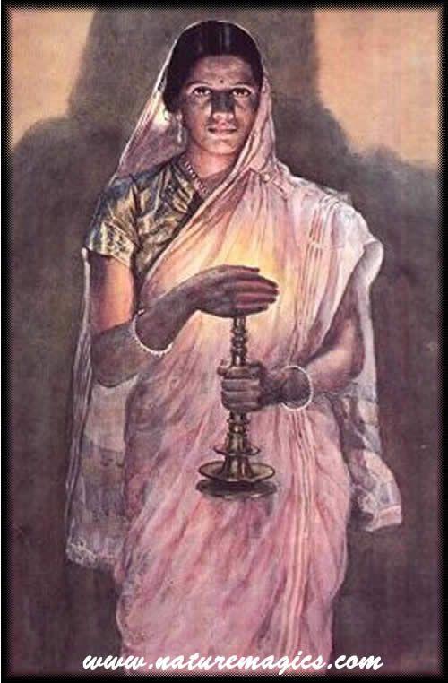 One of Raja Ravi Varma's works. Raja Ravi Varma was the first Indian Artist to use the oil on canvas medium.