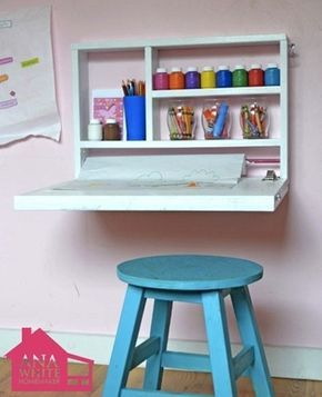 Decoração divertida para o quarto das crianças com boas ideias para a área de estudo (e que não ocupam muito espaço!)