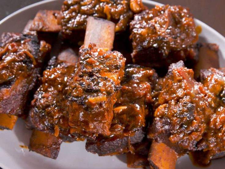 Sweet and Spicy BBQ Sauce with Sticky-sweet BBQ'd Beef Ribs recipe from Nancy Fuller via Food Network