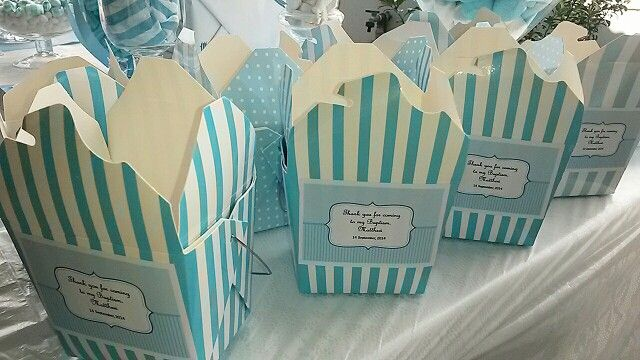 Candy box with personalised labels