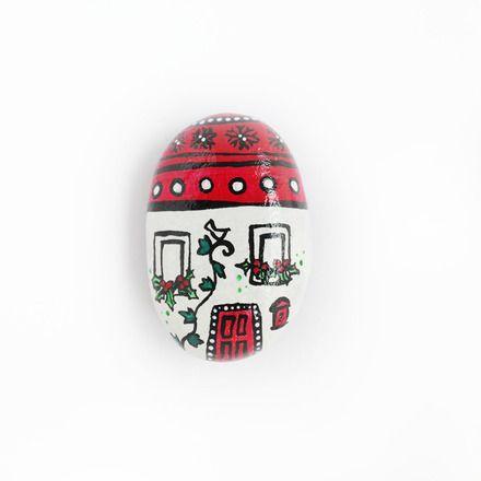 Calamita casetta natalizia dipinta a mano  : Accessori casa di silvia-mammabook