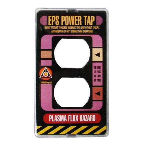 Star Trek TNG Power Plate Electrical Outlet Cover - Roddenberry - Star Trek - Home Decor at Entertainment Earth