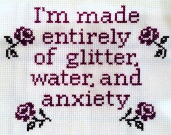 subversive cross stitch pattern – Etsy. Change glitter to fabric and that's me