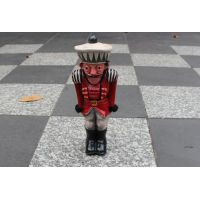 The Nutcracker is adventuring around Melbourne CBD. Here he's preparing for a game of chess against the Rat King.